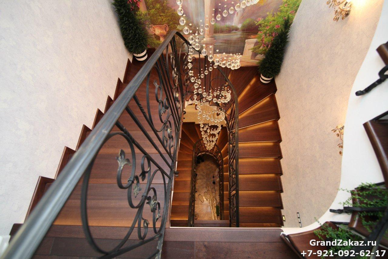 Лестница по чертежам заказчика в Санкт-Петербурге
