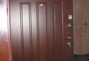 Стальная дверь с накладной панелью