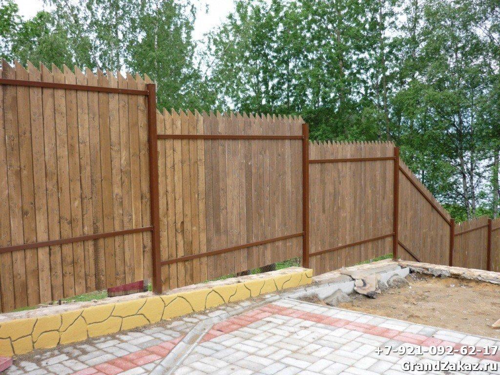 Простой и функциональный забор
