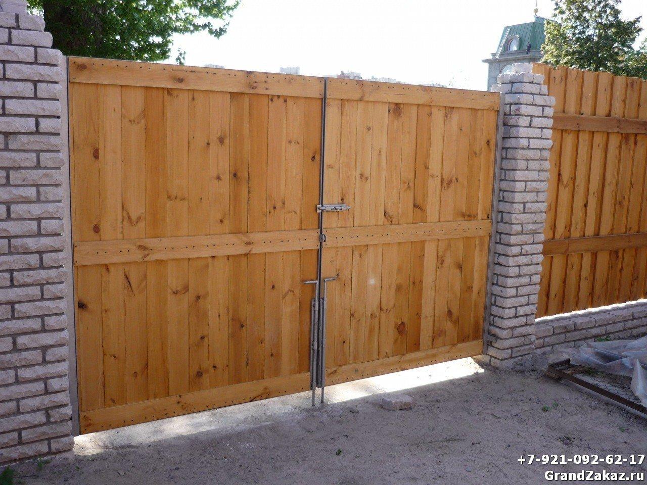 Въездные ворота в частный дом своими руками 83