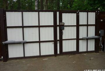 Автоматические ворота с монтажем