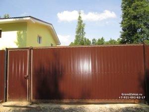 Калитка и ворота из профнастила