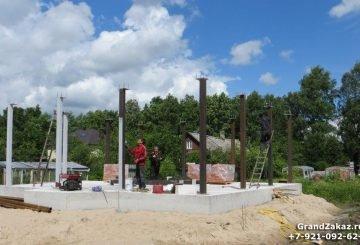 Строительство дома из металлоконструкций