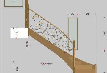 Проект лестницы с коваными перилами