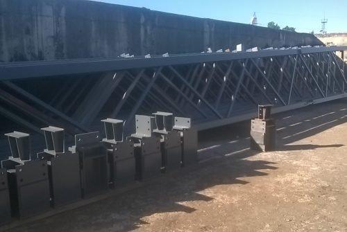 Металлический каркас для строительства склада